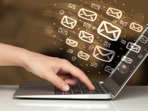 Concept of sending e-mails from your computer